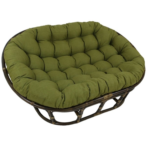 Shop Blazing Needles 65 Inch Indoor Outdoor Double Papasan Cushion