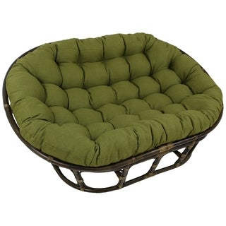 Blazing Needles 48x65-inch Indoor/ Outdoor Double Papasan Cushion