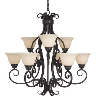 Maxim Manor 9-light Oil Rubbed Bronze Chandelier