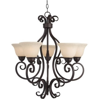 Maxim Manor 5-light Oil Rubbed Bronze Chandelier
