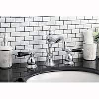 Elegant Chrome and Black Widespread Bathroom Faucet