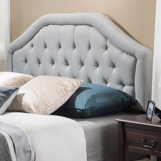 angelica adjustable full queen tufted fabric headboard by christopher knight home