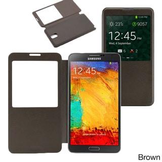 Gearonic Samsung Galaxy Note 3 PU Leather Flip Case
