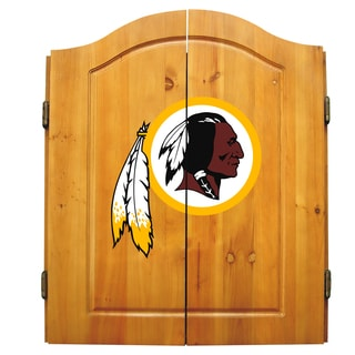 NFL Washington Redskins Wooden Dartboard Cabinet Set