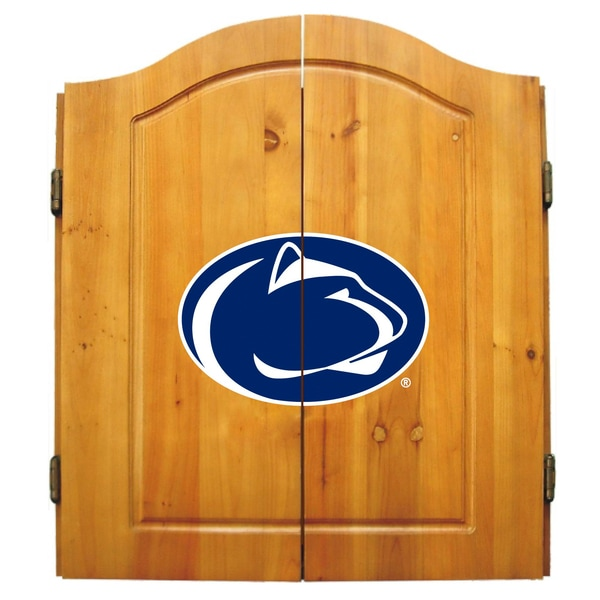NCAA Penn State Nittany Lions Wooden Dartboard Cabinet Set