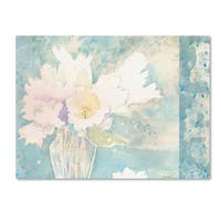 Sheila Golden 'White and Teal Composition' Canvas Art - Multi
