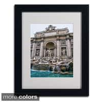 CATeyes 'Trevi Fountain' Framed Matted Art