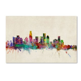 Michael Tompsett 'Los Angeles California' Canvas Art