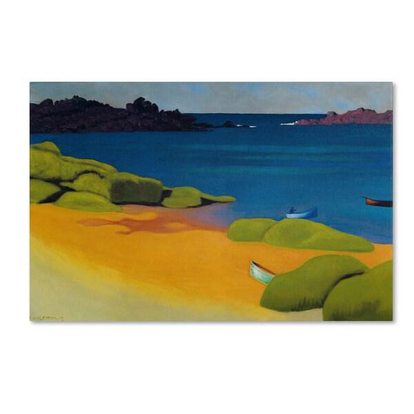 Felix Vallotton 'Bay of Tregastel 1917' Canvas Art