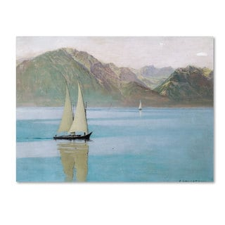Felix Vallotton 'Boat On Lake Geneva 1892' Canvas Art