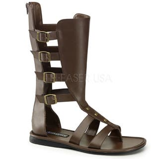 Funtasma Men's 'Spartan-105' Brown Mid-calf Gladiator Sandals|https://ak1.ostkcdn.com/images/products/8604032/P15873016.jpg?impolicy=medium