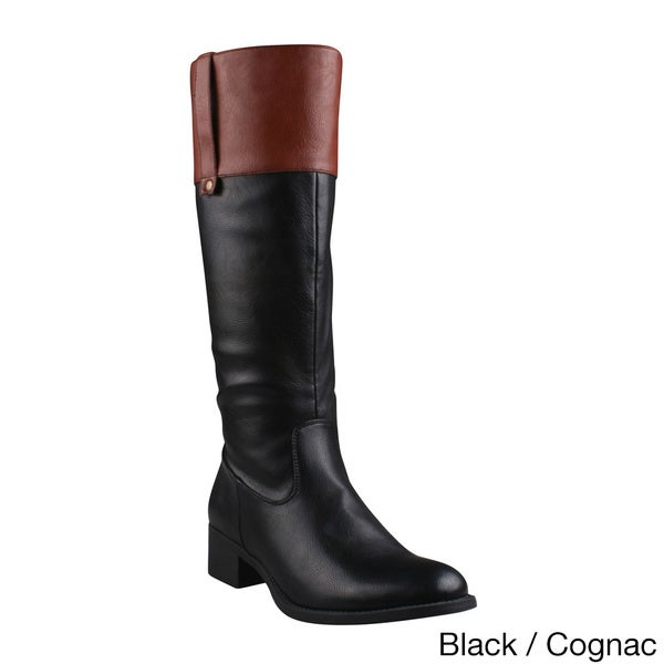 05b46c1442d Shop Refresh Women's 'Alto-03' Side Zip Comfort Riding Boots - Free ...