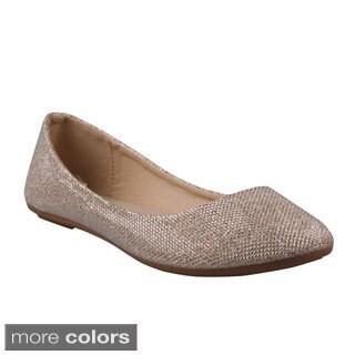 Refresh Women's 'Demi-07' Shiny Ballerina Flats