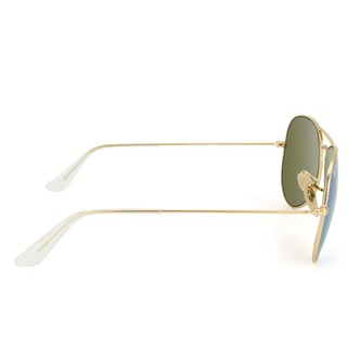 Ray-Ban Aviator 'RB3025' Unisex Matte Gold/ Blue Flash Lens Sunglasses