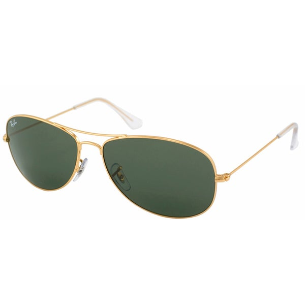 dac11ae17d Shop Ray-Ban  RB 3362 Cockpit 001  Unisex Gold  Green Metal ...