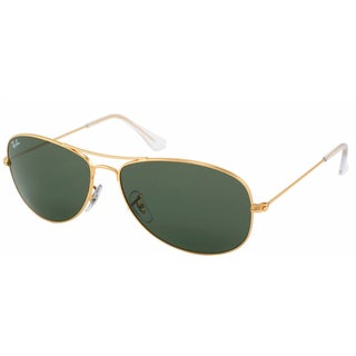 Ray-Ban 'RB 3362 Cockpit 001' Unisex Gold/ Green Metal Sunglasses