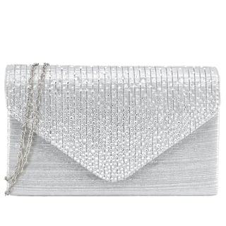 Dasein Rhinestone Frosted Evening Clutch Handbag|https://ak1.ostkcdn.com/images/products/8604181/P15873241.jpg?impolicy=medium