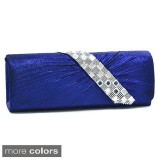 Dasein Pleated Asymmetric Jewel Evening Clutch