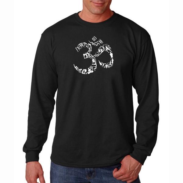 Mens Om Long Sleeve Yoga T-shirt