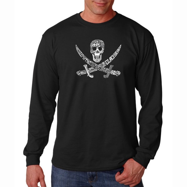 Mens Pirate Pictures Long Sleeve T-shirt