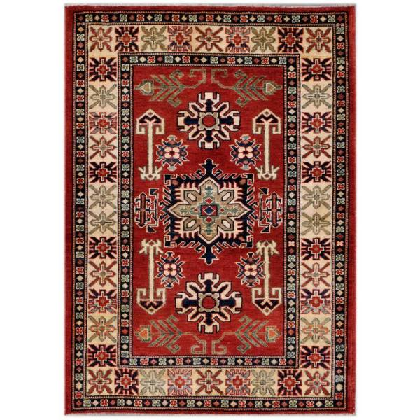 5 X 6 Vintage Kazak Persian Oriental Wool Hand Knotted: Shop Herat Oriental Afghan Hand-knotted Kazak Rust/ Ivory