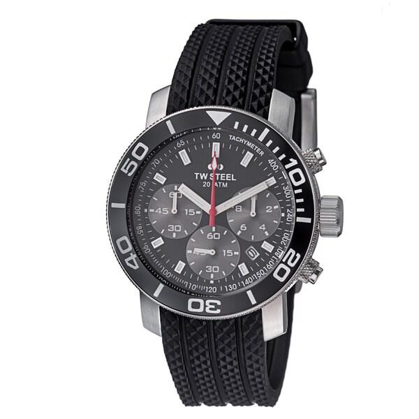 TW Steel Men's TW700 'Grandeur Dive' Black Dial Chronograph Swiss Quartz Watch