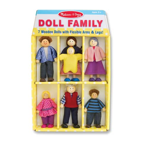 Melissa & Doug Doll Family - multi-color