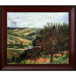 Claude Monet 'Apple Trees in Bloom at Vetheuil 1887' Hand Painted Framed Canvas Art