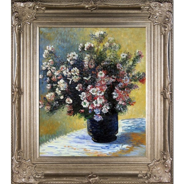 Shop Claude Monet Vase Of Flowers Hand Painted Framed Canvas Art