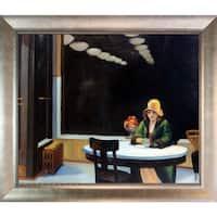 Edward Hopper 'Automat' Hand Painted Framed Canvas Art