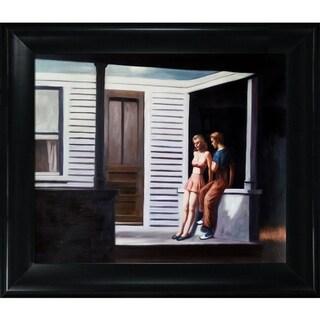 Edward Hopper 'Summer Evening' Hand Painted Framed Canvas Art