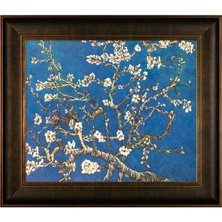 Van Gogh 'Branches of an Almond Tree' Hand Painted Oil Reproduction - Blue/White