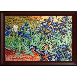 Vincent Van Gogh 'Irises' Hand-painted Framed Canvas Art