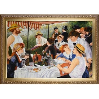 Pierre Auguste-Renoir 'Luncheon of The Boating Party' Hand Painted Framed Canvas Art