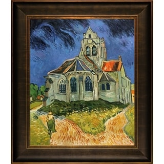 Vincent Van Gogh 'The Church at Auvers' Hand Painted Framed Canvas Art