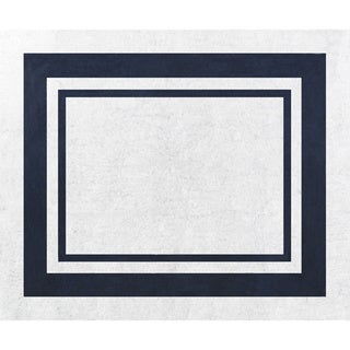 Sweet Jojo Designs White and Navy Modern Hotel Accent Floor Rug