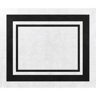 Sweet Jojo Designs White and Black Modern Hotel Accent Floor Rug