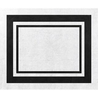 Sweet Jojo Designs White and Black Modern Hotel Accent Floor Rug - 2'6 x 3'
