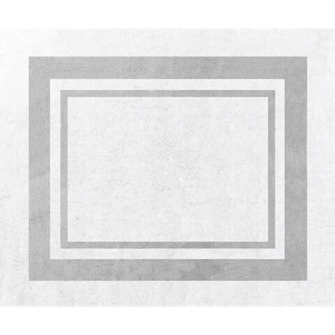 Sweet Jojo Designs White and Grey Modern Hotel Accent Floor Rug - 2'6 x 3'