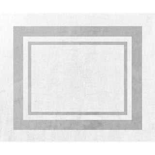 Sweet Jojo Designs White and Grey Modern Hotel Accent Floor Rug - 2'6 x 3'