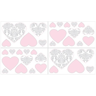 Sweet Jojo Designs Elizabeth Wall Decal Stickers (Set of 4)