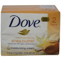 Dove Nourishing Care Bar Soap Shea Butter Two 4-ounce Soaps