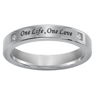Cambridge Sterling Silver Diamond Accent Engraved Purity Ring (More options available)