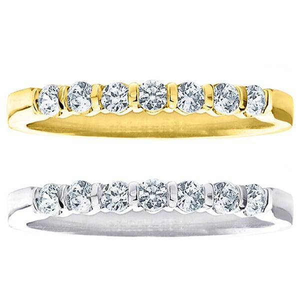 Amore 14k White or Yellow Gold 1/2ct TDW Diamond Wedding Band