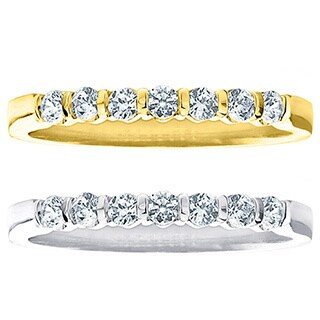 Amore 14k White or Yellow Gold 1/2ct TDW Diamond Wedding Band