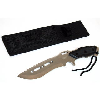 12-inch Silver Combat Ready Stainless Steel Hunting Knife