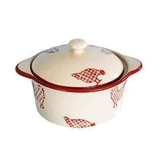 Barnyard Style Red/ Cream Sugar Bowl