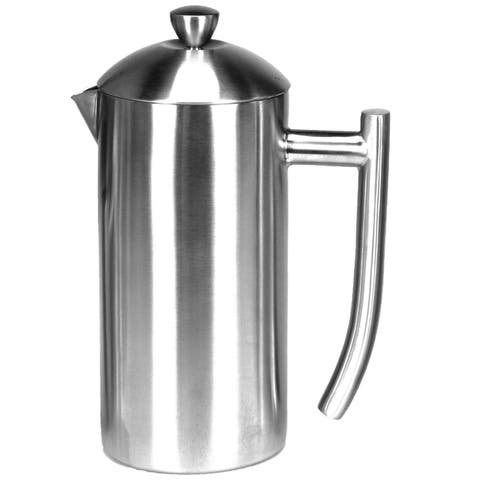 Frieling Double Wall Stainless Steel French Press Coffee Maker Polished