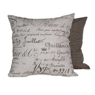 Document Fossil Throw Pillows (Set of 2)