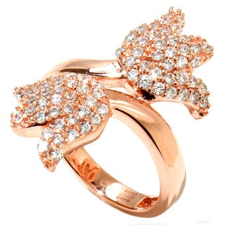 Sonia Bitton Rose Goldplated Sterling Silver Tulip Bypass Ring